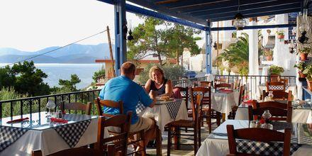 Taverna. Hotelli Aegean Homes, Myrties & Massouri, Kalymnos.