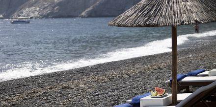Ranta, hotelli Afrodite. Kamari, Santorini.