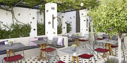 Ravintola Mesogaia, hotelli Afrodite. Kamari, Santorini, Kreikka.