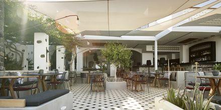 Ravintola, hotelli Afrodite. Kamari, Santorini.