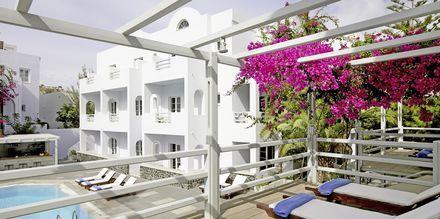 Hotelli Afrodite. Kamari, Santorini, Kreikka.