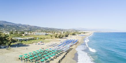 Läheinen ranta. Hotelli Akti Chara, Rethymnon, Kreeta, Kreikka.
