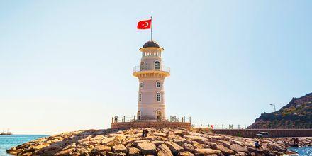 Kuvan kaunis majakka, Alanya, Turkki.