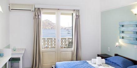 Kahden hengen huone. Hotelli Alea Mare, Leros, Kreikka.