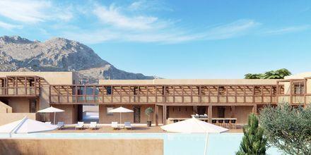 Havainnekuva allasalueesta, hotelli Alegria Beach Resort. Plakia, Kreeta, Kreikka.