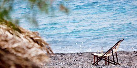 Ranta. Hotelli Alesahne Beach, Santorini, Kreikka.
