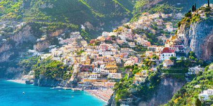 Positano, Amalfin rannikko, Italia.