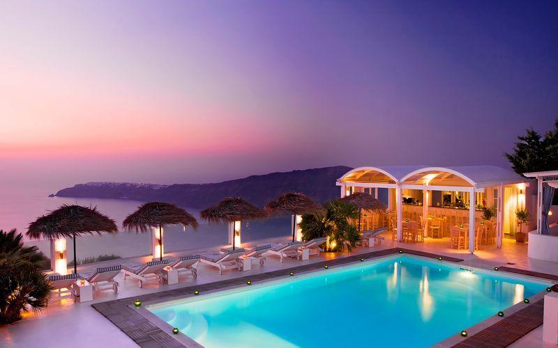 Hotelli Andromeda Villas, Caldera, Santorini, Kreikka.