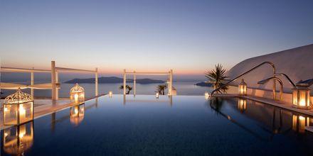 Allas. Hotelli Andromeda Villas, Caldera, Santorini, Kreikka.