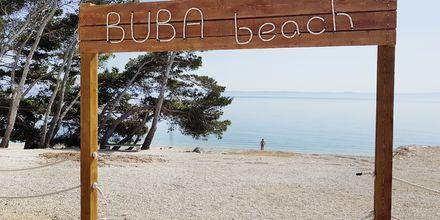 Ranta Buba Beach Barin edustalla. Makarska, Kroatia.