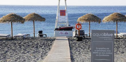 Ranta, Hotelli Aqua Blue, Perissa, Santorini, Kreikka.