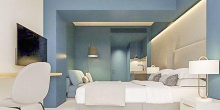 Kahden/kolmen hengen huone, hotelli Aquarius, Rethymnon, Kreeta.