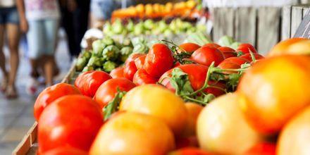 Hedelmämarkkinat Ateenassa.