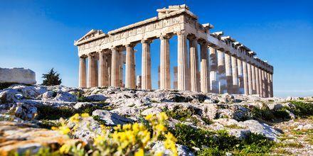 Kuuluisa Parthenonin temppeli Kreikan Ateenassa.