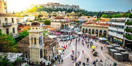 Eläväinen Monastirakin tori Kreikan Ateenassa.