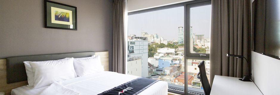 Kahden hengen huone, hotelli Avanti. Saigon, Vietnam.