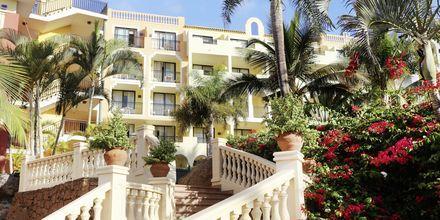 Vehreä hotellialue, Bahia Principe Sunlight Costa Adeje, Playa de las Americas, Teneriffa.
