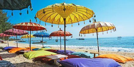 Balin rannat ovat erinomaisia rentoutumiseen. Bali, Indonesia.