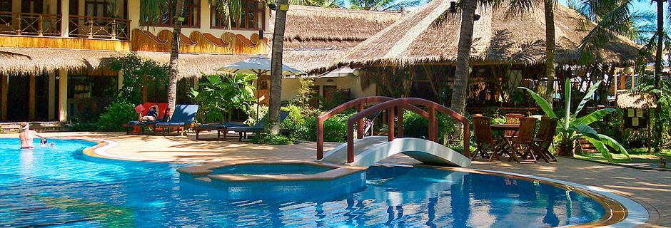 Allasalue, Bamboo Village Resort, Phan Thiet, Vietnam.