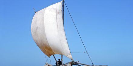 Perinteinen kalastusvene. Sri Lanka.
