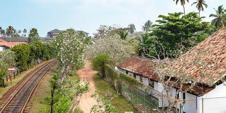 Juna-asema. Bentota, Sri Lanka.