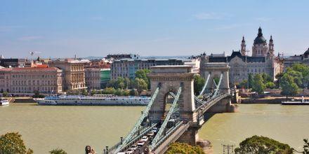 Ketjusilta Budapestissä kulkee Donaun joen yli.