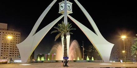 Deiran kellotorni lähellä Bur Dubaita, Arabiemiraatit.