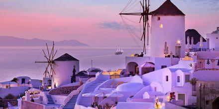 Auringonlasku. Oia, Santorini.