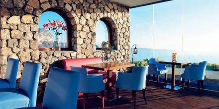 Ravintola. Hotelli Caldera's Lilium, Santorini, Kreikka.