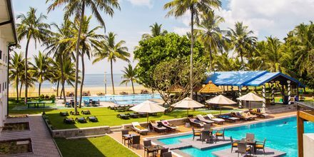 Allas ja ranta. Hotelli Camelot Beach, Negombo, Sri Lanka.