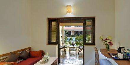 Deluxe-huone, Hotelli Casa de Goa, Intia.
