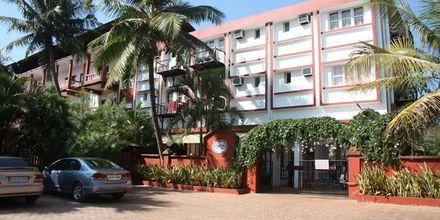 Sisäänkäynti, Chalston Beach Resort, Pohjois-Goa, Intia.