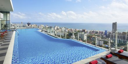 Kattoallas. Hotelli Cinnamon Red, Colombo, Sri Lanka.