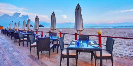 Ravintola Dolphine Beach, hotelli Crowne Plaza Resort. Salalah, Oman.