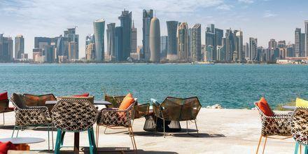 Doha, yksi maailman nopeimmin kasvavista kaupungeista.