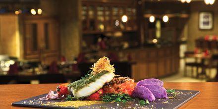 Ravintola Brasserie, hotelli Doubletree by Hilton Marjan Island. Ras al Khaimah, Arabiemiraatit.