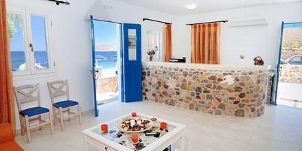 Vastaanotto. Hotelli Dream Island, Tilos, Kreikka.