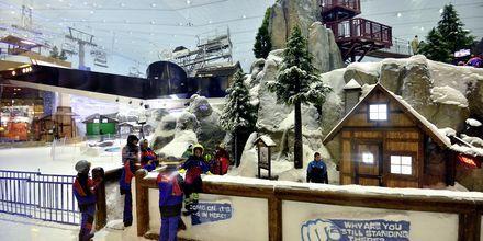 Ski Dubai – sisälaskettelukeskus Mall of the Emirates ostoskeskuksessa, Dubai, Arabiemiraatit.