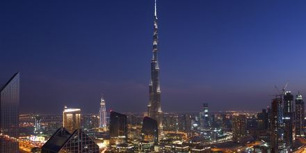 Burj Khalifa, maailman korkein rakennus, Dubai, Arabiemiraatit.