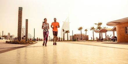 Juoksukeskus. Dubai, Arabiemiraatit.