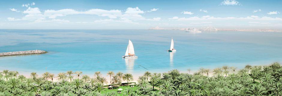 Ranta Sheraton Jumeirah Beach Resortin läheisyydessä, Arabiemiraatit.