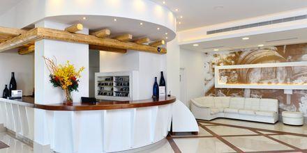 Vastaanotto. Hotelli Epsilon, Rodos, Kreikka.