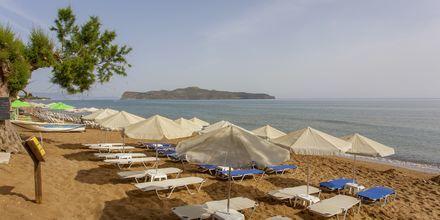 Ranta hotellin edustalla, Hotelli Faros, Kato Stalos, Kreeta.