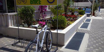 Pyöränvuokrausta, Hotelli Flora, Tucepi, Kroatia.