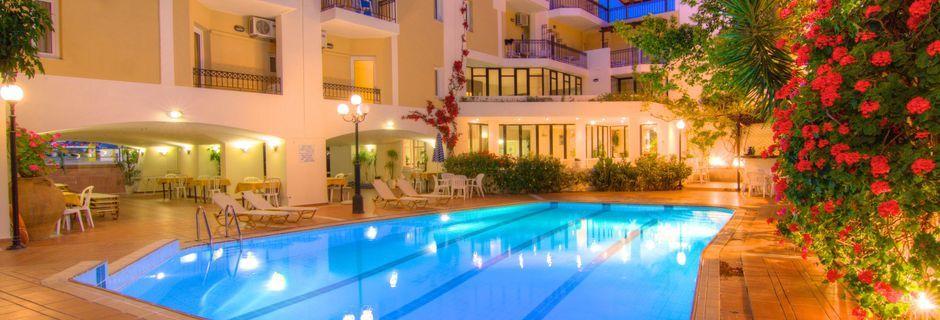 Allas. Hotelli Fortezza, Rethymnonin kaupunki, Kreeta, Kreikka.