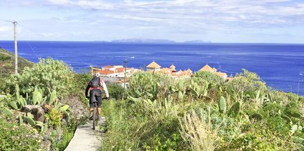 Pyöräilyä Madeiralla.