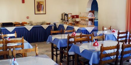 Aamiaisravintola. Hotelli Gardenia, Santorini, Kreikka.