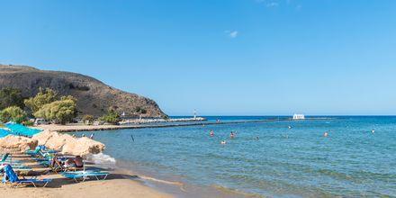 Nauti aurinkoisista päivistä rannalla. Georgiopolis, Kreeta, Kreikka.
