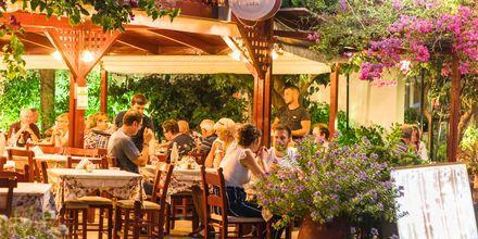 Viehättävä ravintola. Georgiopolis, Kreeta, Kreikka.