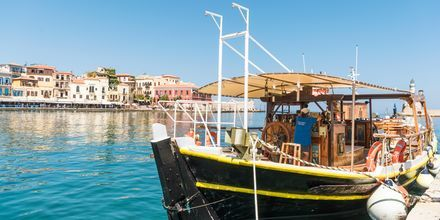 Laivoja satamassa. Hanian kaupunki, Kreeta, Kreikka.
